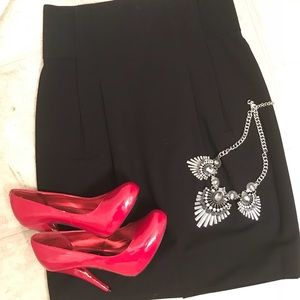 BCBG Black Pencil Skirt